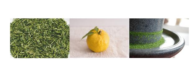 柚子緑茶 素材